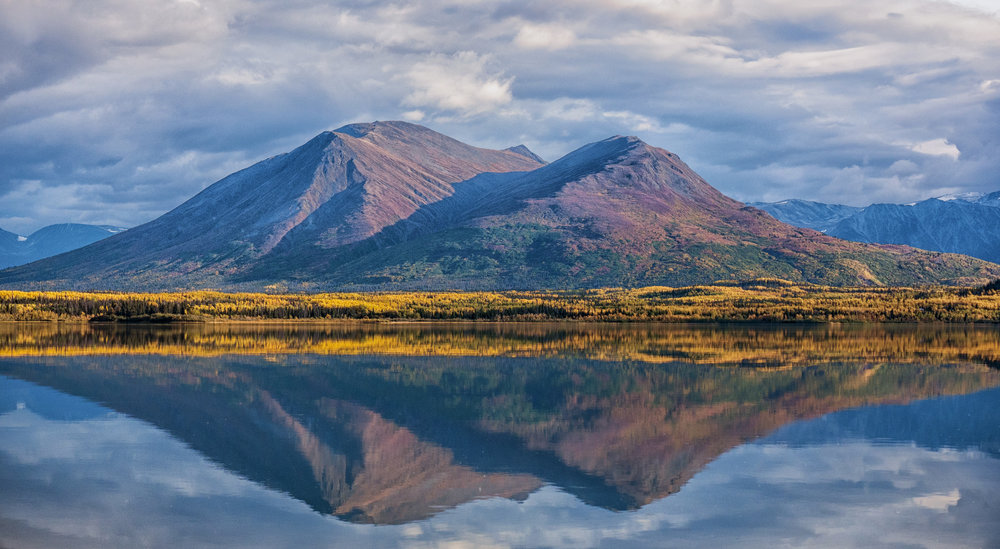 Stunning lake reflections in Yukon by Chris Pepper