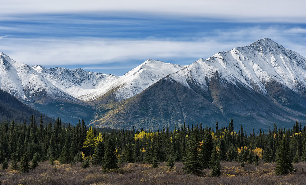 Mountains and fall colours in Yukon by Chris Pepper