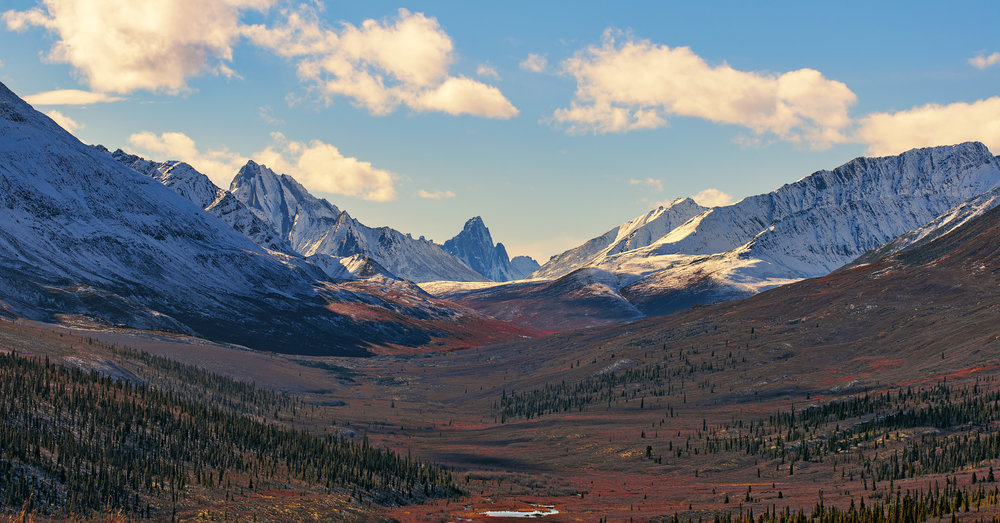 late fall Tombstone mountains in Yukon, By Chris Pepper
