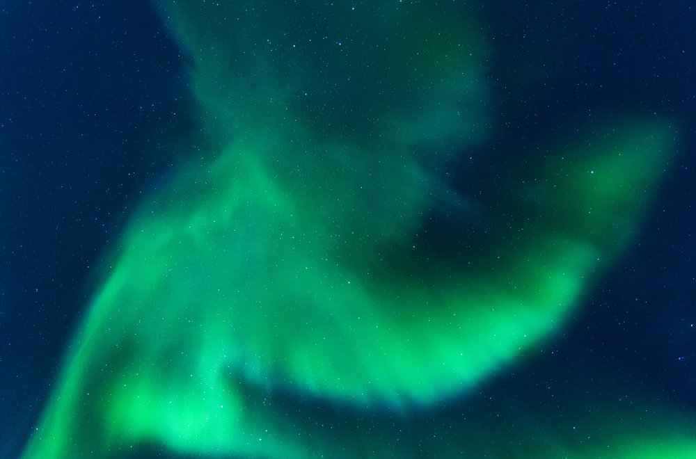 Baby in the sky Northern Lights Yukon by Chris Pepper
