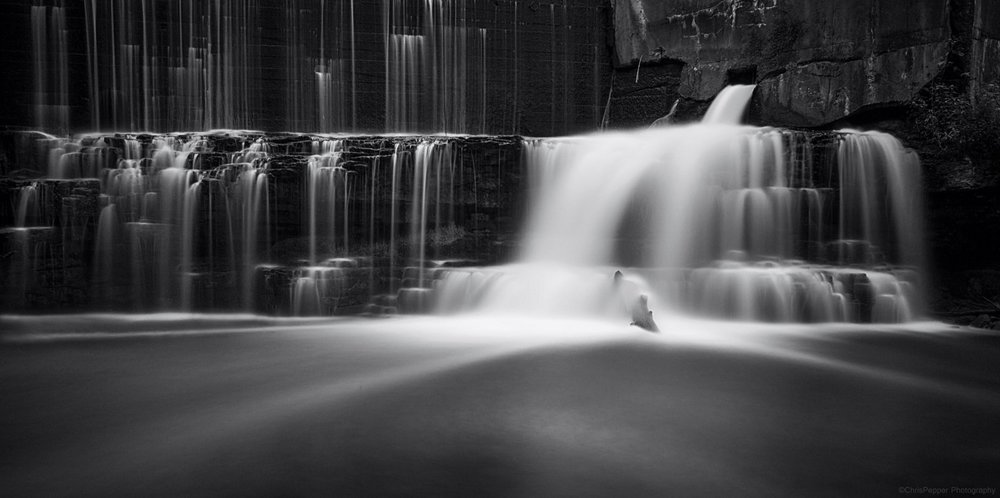 Waterfall in Ontario By Chris Pepper