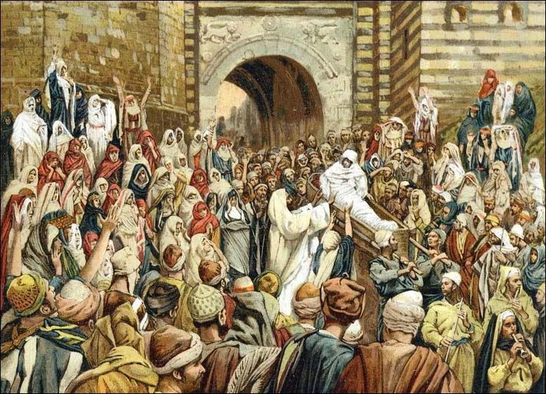 James Tissot, Jesus Raising the Son of the Widow at Nain