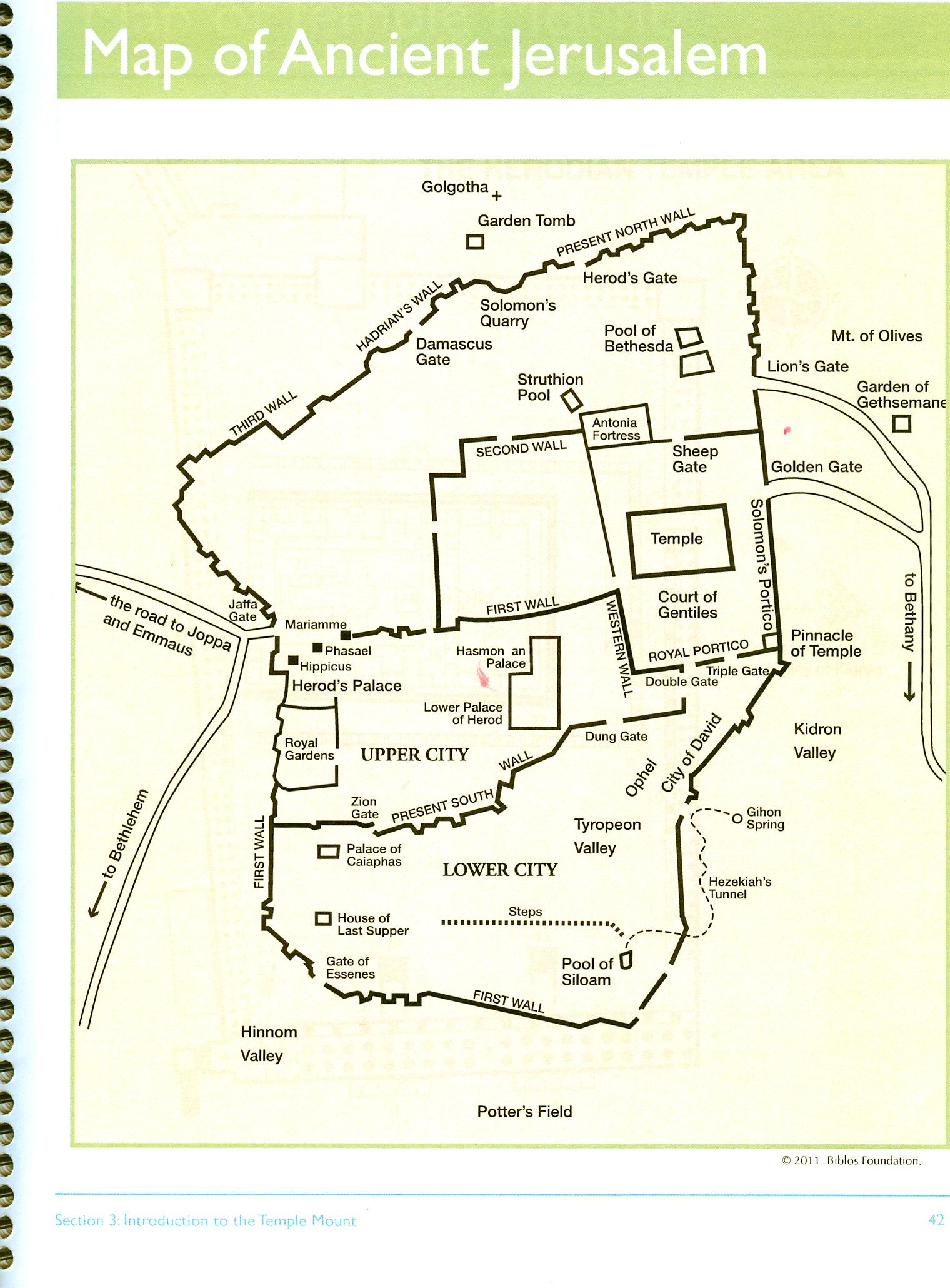 Jerusalem map copy