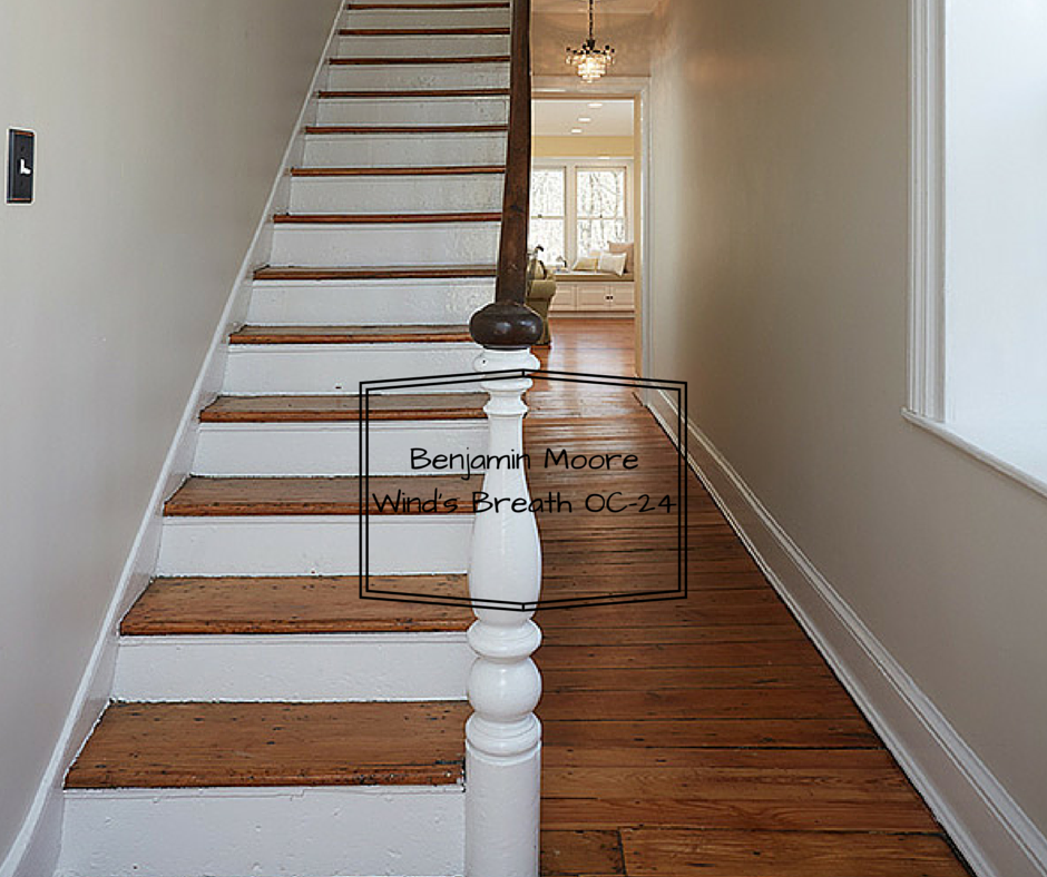 This soft neutral is wonderful for an entrance hallway.