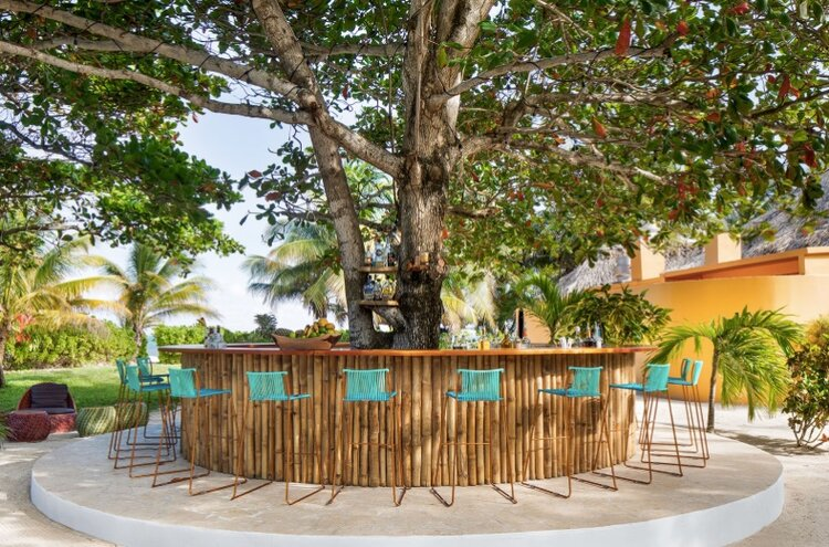 Danny's Tree Bar  - newly built around an old tree on the property, the bar was constructed using locally sourced wood and bamboo.
