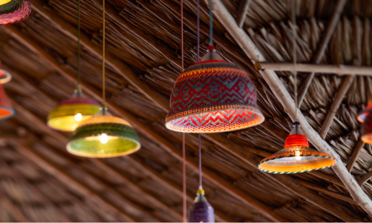 One of my favourite additions to Matachita's redesign is this incredible light installation. Designed by  ACdO  and woven by hand by master artisans in Columbia, these stunning pendant lights are made from PET plastic bottles that were destined to pollute land and sea.
