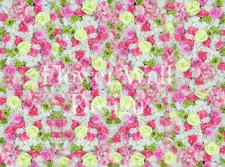 Hawaii Heart Flower Wall