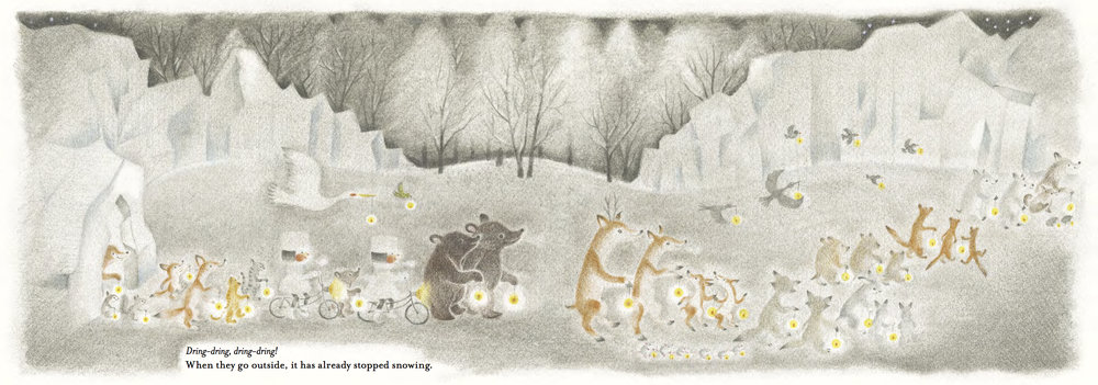 Image from  Chirri & Chirra, The Snowy Day  by Kaya Doi