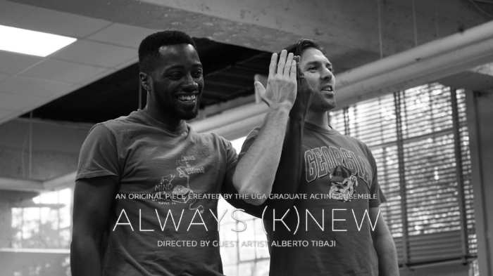 MFA Actors Marlon Burnley & Larry Cox, Jr. in rehearsal.