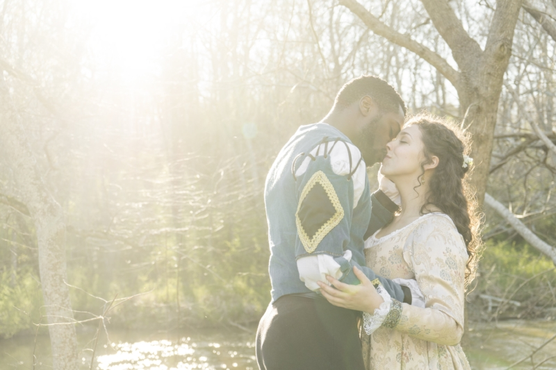 MFA Actor Marlon Burnley (Othello) with UGA Senior Melanie Sheahan (Desdemona) | Photo: Alys Barrow