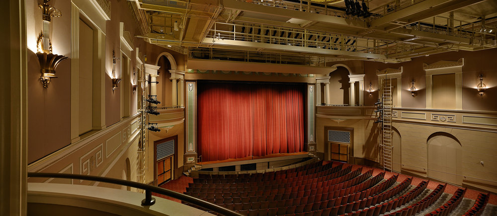 The Fine Arts Theatre, renovated in 2007 to bring it back to its original 1941 aesthetic.