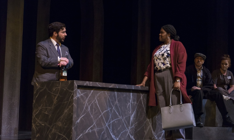 First-year MFA Actors John Galas & Daja M. Rice in  Equus