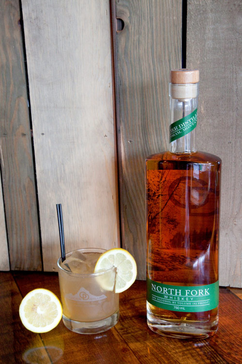 North Fork Flood - In a rocks glass:Add 1 oz.North ForkAdd iceSqueeze lemon wedge into glassTop with ginger ale
