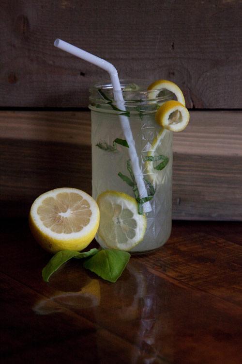 Basil Lemonade  - In a juice mason:Add 1 oz. Glacier DewAdd iceRoll 2-4 basil leaves and slice, throw into glassFill glass with lemonade
