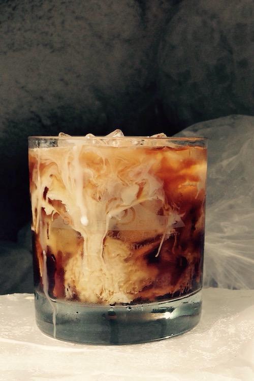 Vodka Cocktail - MT Gray WolfIn a rocks glass:Add iceAdd 1 oz.VodkaFill glass 2/3 full with cold brew coffeeAdd a splash of cream (we use Kalispell Kreamery Half & Half)Top with a splash of Coke