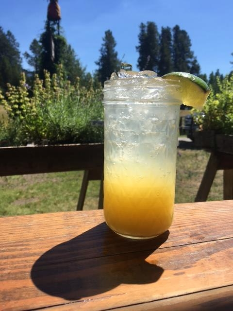 Sundance - In a shaker:1 oz. Gold Miner2 oz. orange juice2 oz. pineapple juiceIceShake and dump into juice masonTop with Dry Lemongrass SodaGarnish with fresh lime