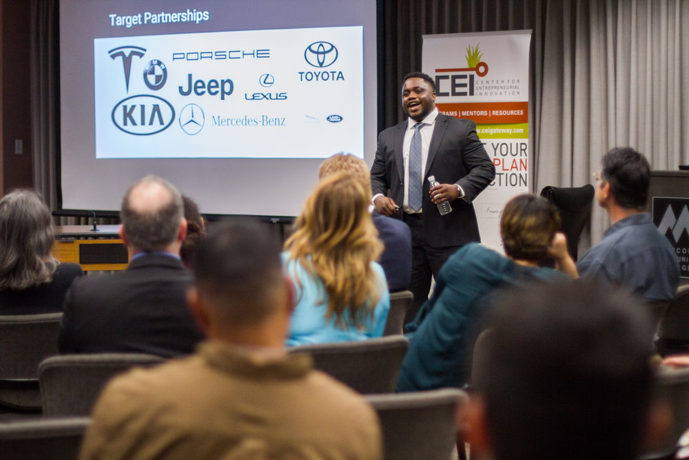 Wilson Okwuobu, founder of Convey Concierge, Wins CEI's 2019 Big Pitch Competition