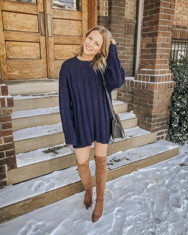 currently feeling like -11 degrees in denver ❄️ so you won't catch my bare legs out in public today BUT i do have a new blog post up! i'm sharing my favorite sweater dresses + styling one 3 ways to show how versatile they are and why it's not too late to add one to your wardrobe 🤗 you can read my post by clicking the link in my bio!✨ http://liketk.it/2zMtH #liketkit @liketoknow.it