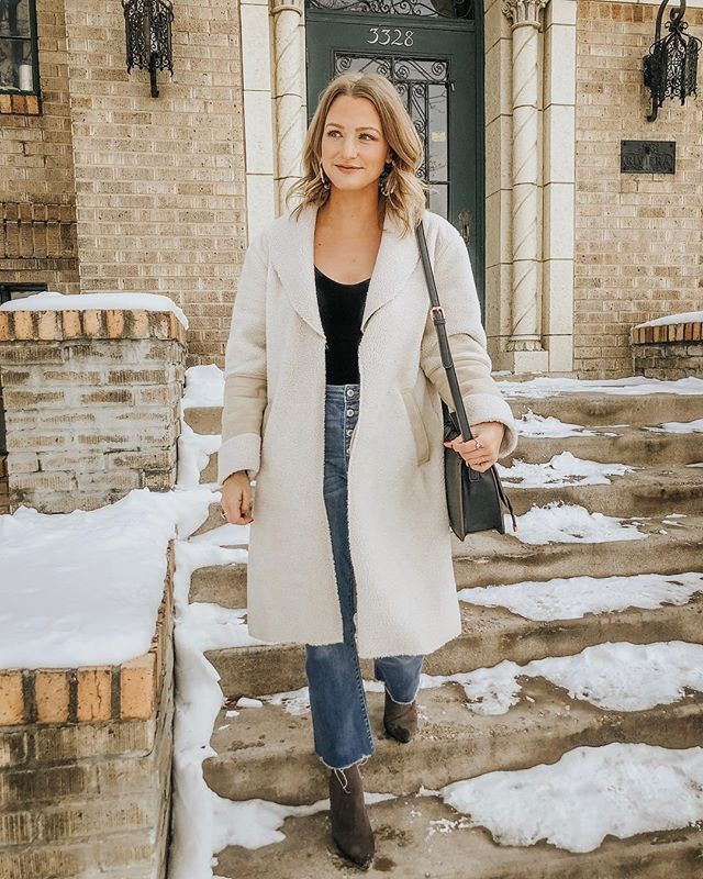 current winter uniform: denim + bodysuit + oversized coat 🖤 also! my favorite sock booties are on MAJOR sale right now, for only $50! ✨ so comfy + come in 3 colors! you know what to do 👉🏼http://liketk.it/2zURv #liketkit #LTKshoecrush #LTKsalealert @liketoknow.it