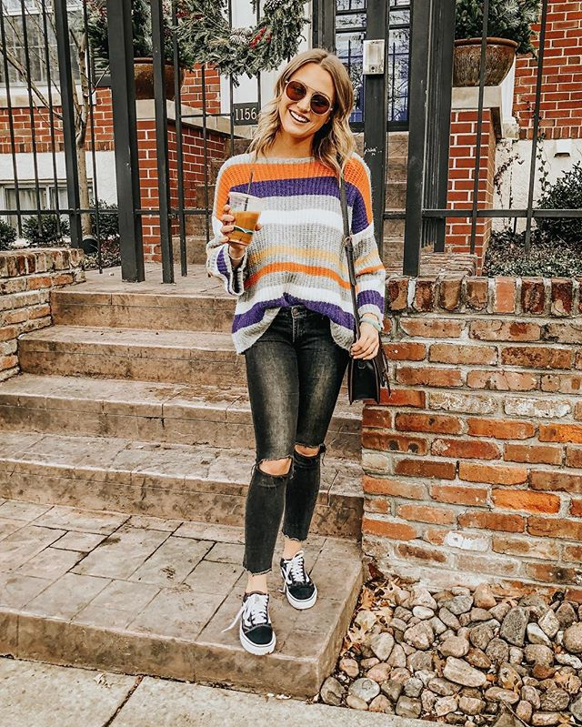 another day another striped sweater 🌈 who has the day off tomorrow!? no long weekend over here so we're spending the day doing sunday thangs: organizing + making homemade chicken soup! 🤤 hope you all have a great sunday, long weekend or not! ✨ http://liketk.it/2zYXB #liketkit @liketoknow.it