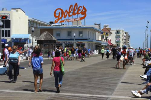 A view from the boardwalk in Rehoboth.