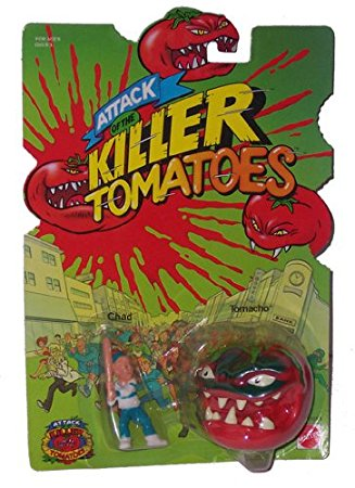 """The """"Attack of the Killer Tomatoes"""" was a """"Mad Ball"""" style toy line from Mattel"""