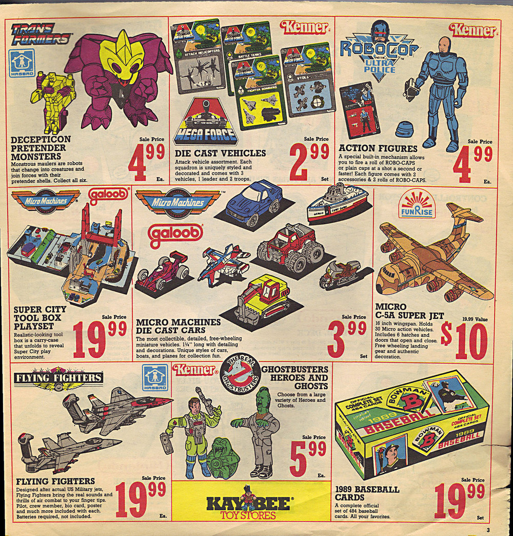 K&K toys would later become KB Toys.