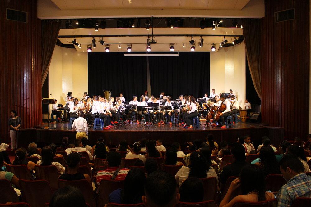 Performing in Barranquilla.