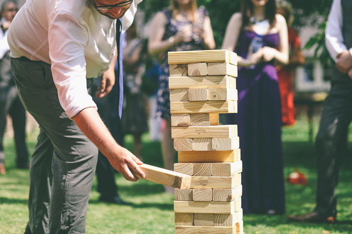 Giant Jenga. Perfect for the garden.
