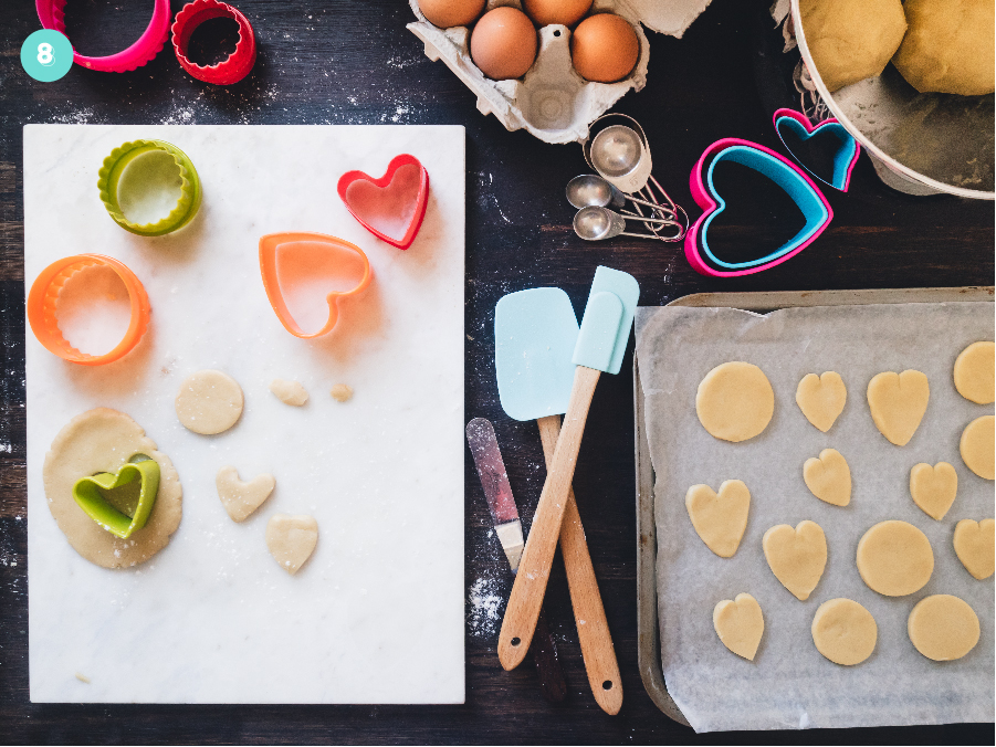 How to make EASY Strawberry & Tennis Ball Biscuits For a Wimbledon Themed Party or sporty celebration - Cutting out the dough