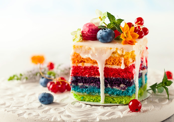 Tips to bake a show-stopping rainbow layer cake