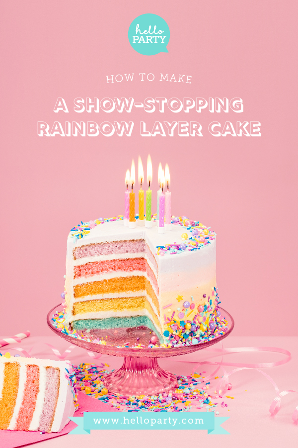 How to make a show-stopping rainbow layer cake