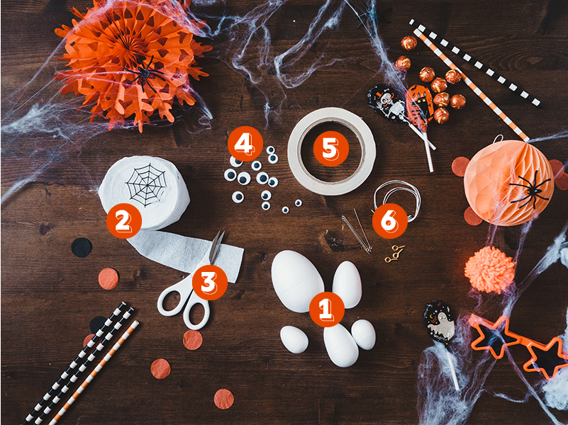 How to make a cute ghost halloween balloon tail - what you'll need