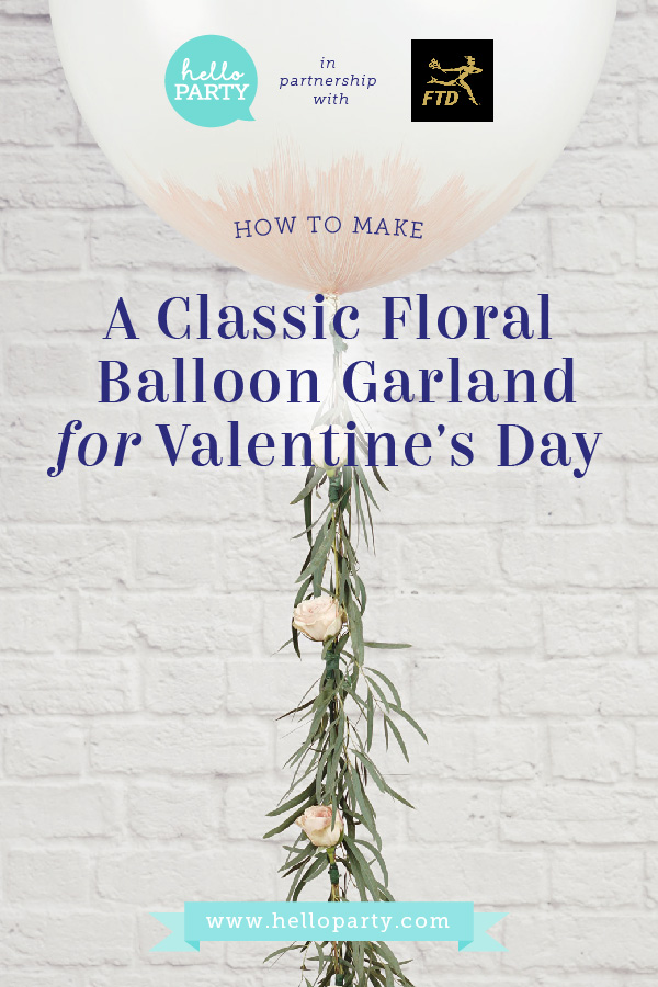 How to make a Classic Floral Balloon Tail For Your Valentine's Day Event