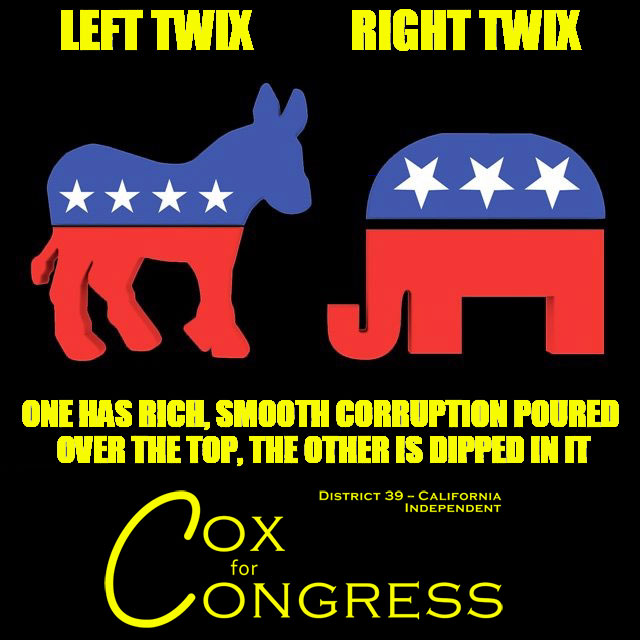 Choose whichever corrupt party you want, just don't get upset when you end up with corruption.