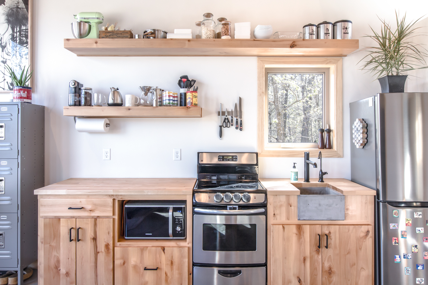 Tiny House Kitchen - Home is Best Place to Return