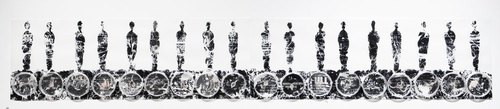 Emerge       Mylar, fax machine carbon, petri dishes, agar,  Halobacterium sp. NRC-1   6' x 1'  2012