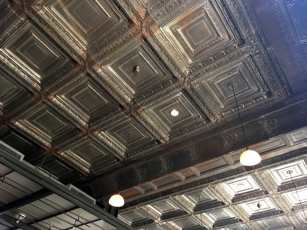 Rustic ceiling at Cured, San Antonio