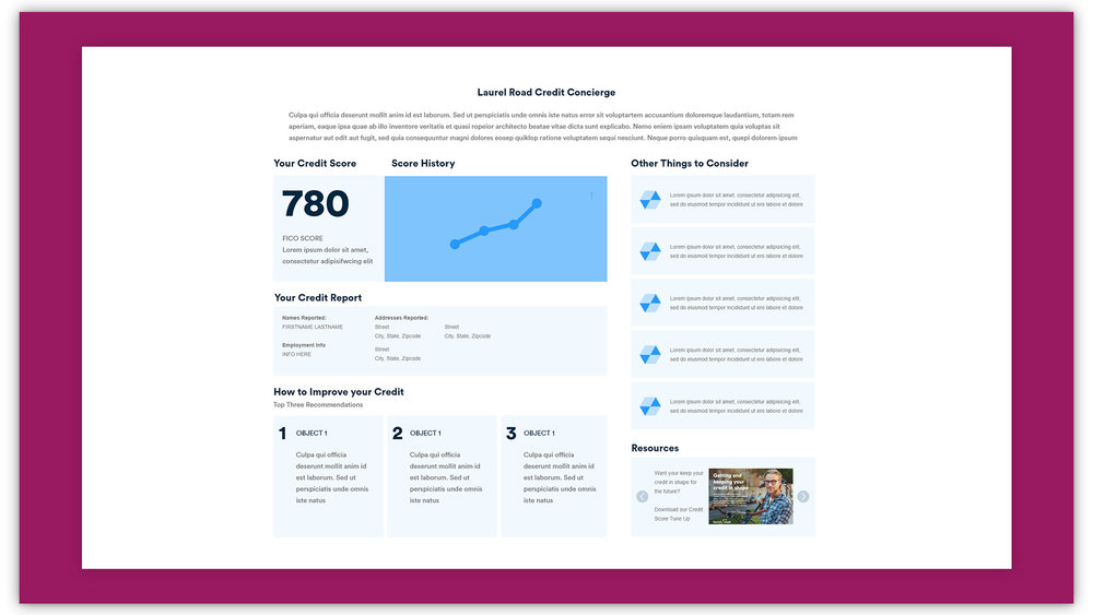 Credit Health Wireframe