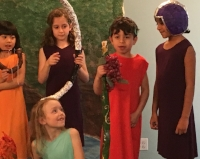 Students studied   Greek mythology   and wrote and performed a play for parents and students.