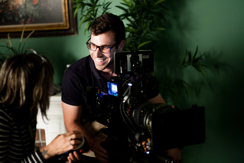 At our cinematography workshop, fellow David Ehrenberg collaborates with another fellow on a scene assignment.