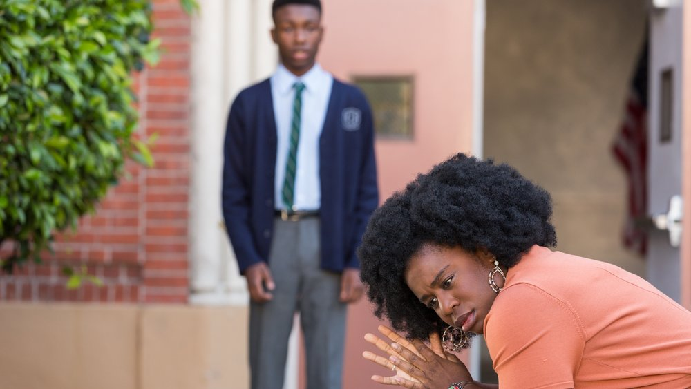 Virginia (Uzo Aduba) tells her son, James (Niles Fitch), that she can longer afford to send him to the private school.