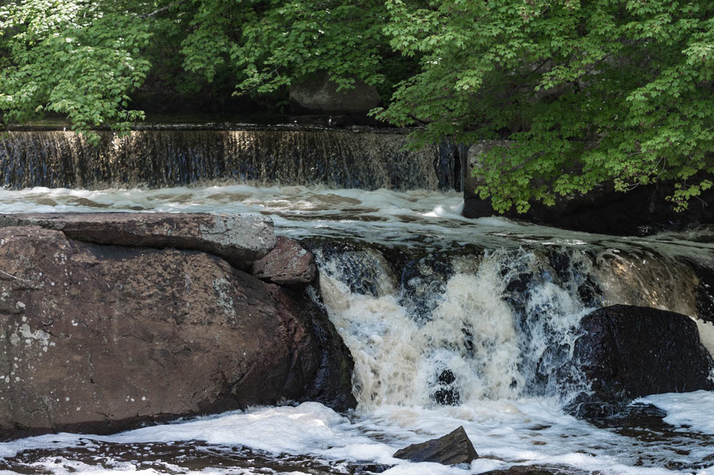 The falls near the fish ladder
