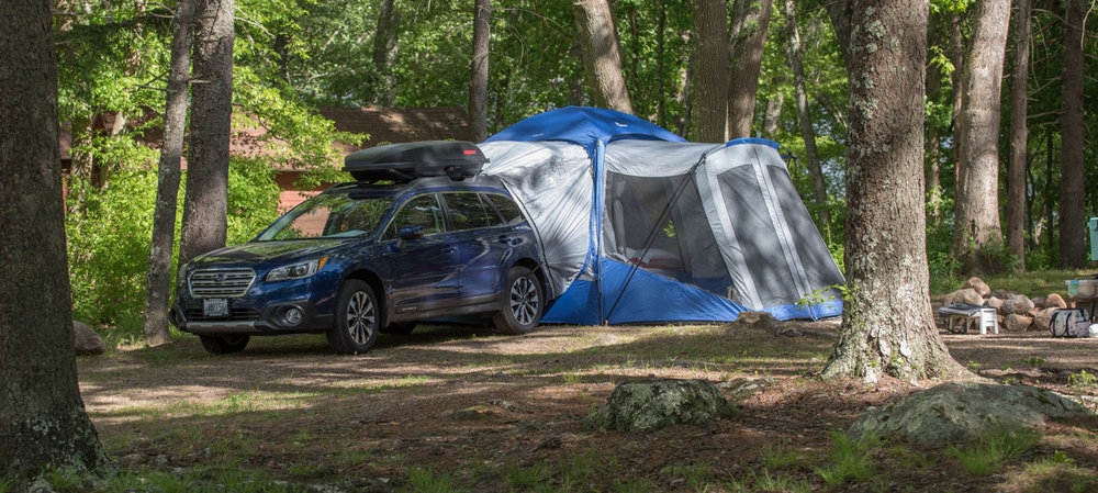 Home Sweet Home, attached to the Subaru