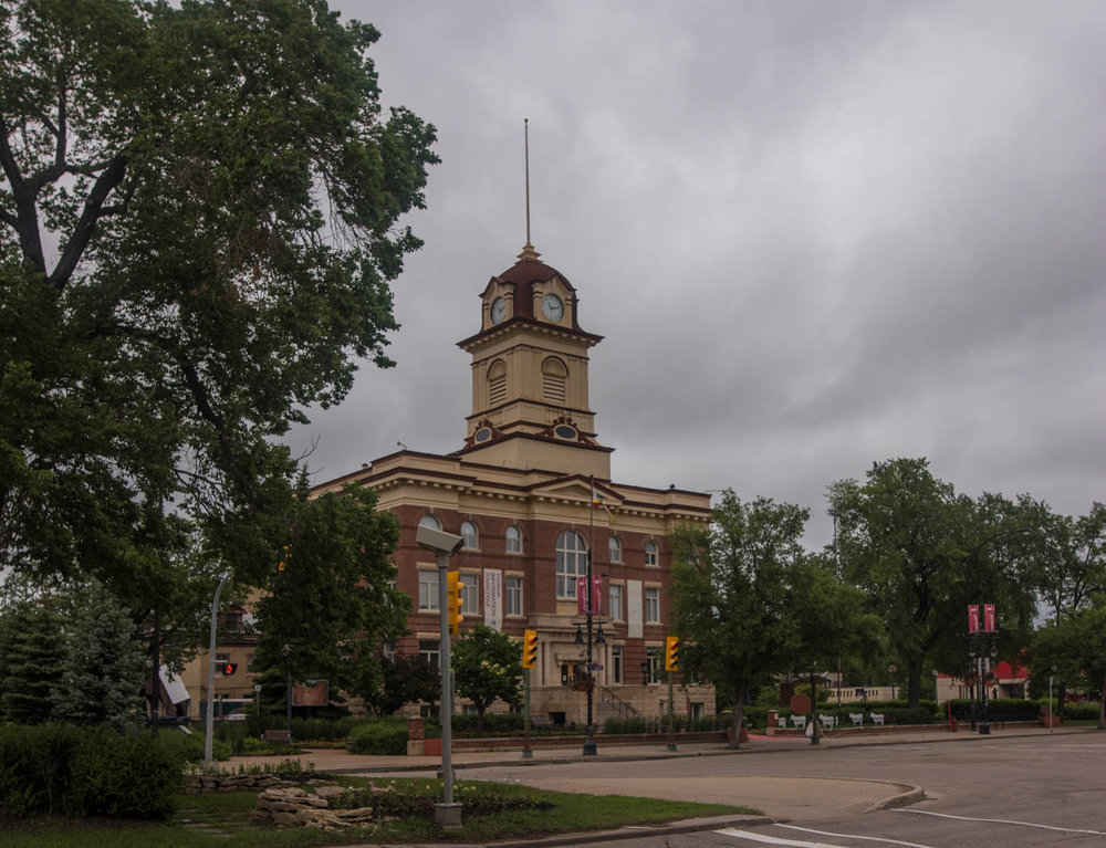 Old city hall in Saint Boniface