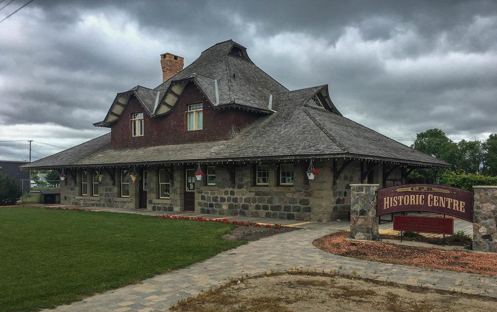 Historic train depot in Virden