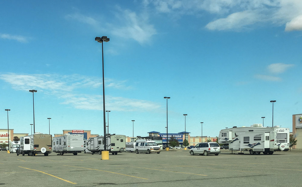 campers at a Walmart!