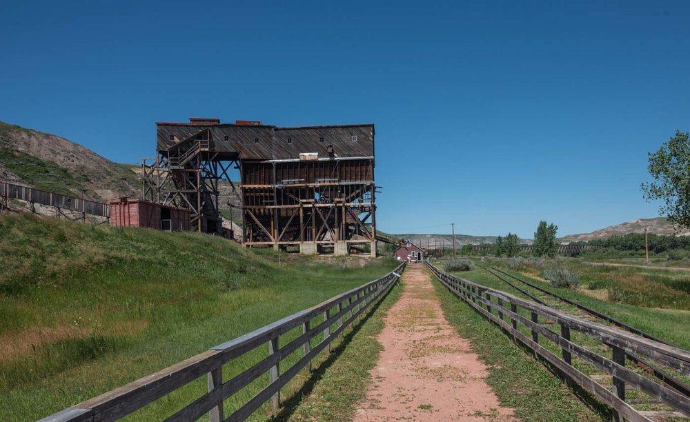 looking toward the mine shaft