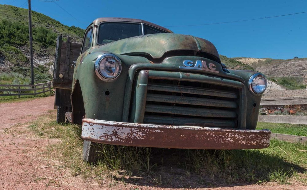 cool old truck at the mine