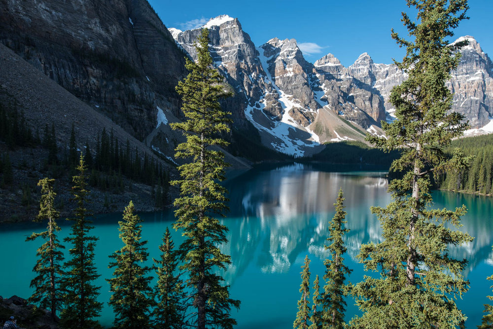 The view from the rockpile, Moraine Lake